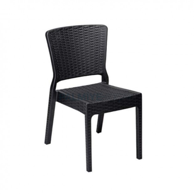 Black Rattan Injection Cafe Garden Chair