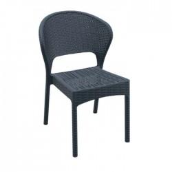 Black Rattan Injection Winter Garden Chair