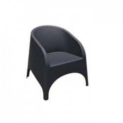 Black Rattan Injection Armchair