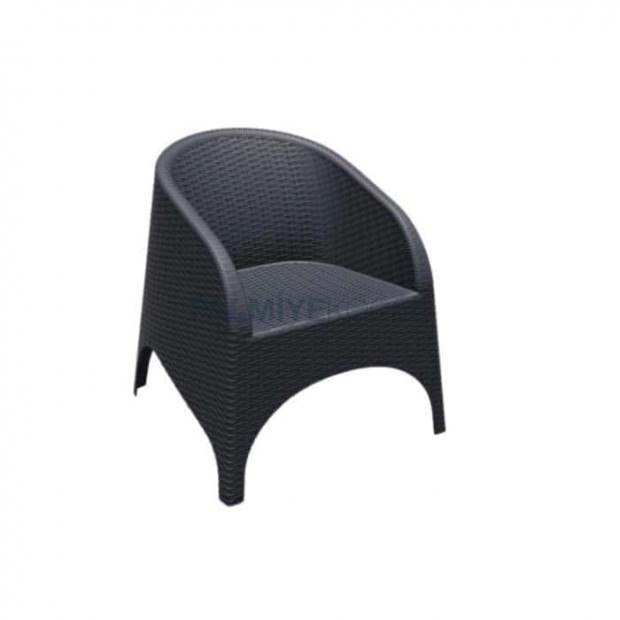 Black Rattan Injection Armchair
