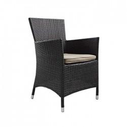 Black Rattan Hotel Chair