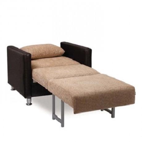 Beige Fabric Leather Armchair Companion Chair - hkv6364