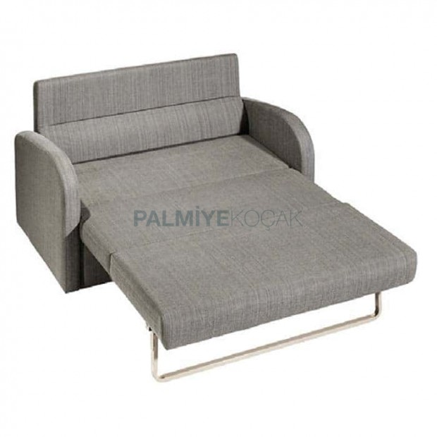 Gray Fabric Folding Companion Chair for Two