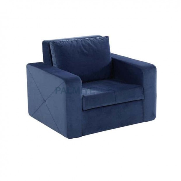 Blue Fabric Covered Companion Chair