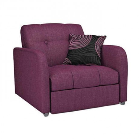 Purple Fabric Quilted Folding Companion Chair - hkv6854