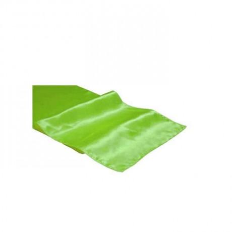 Düğün Salonu Masası Yeşil Kumaş Runner - ran3050