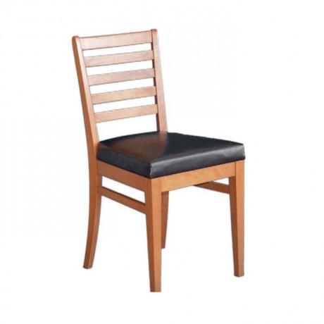 Açık Ahşap Renkli Yatay Çıtalı Restoran Sandalyesi - rsa03