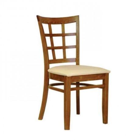 Açık Eskitme Boyalı Krem Deri Kaplı Rustik Sandalye - rsa79