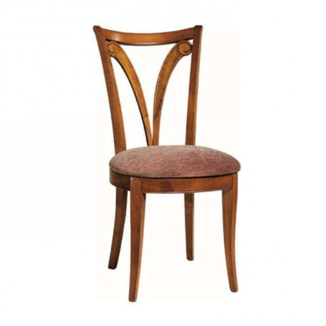 Açık Eskitme Sonil Kumaş Döşemeli Ahşap Rustik Sandalye - rsa39
