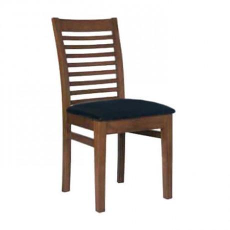 Açık Eskitme Yatay Çıtalı Siyah Kadife Döşemeli Sandalye - rsa88