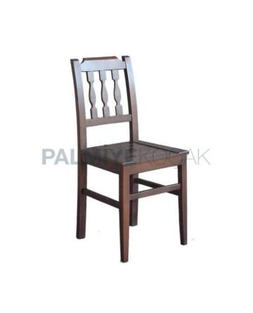 Wood Vertical 3 Stick Chair