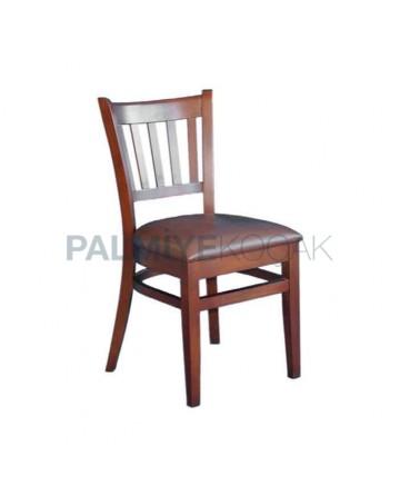 Wooden Antiqued Restaurant Chair