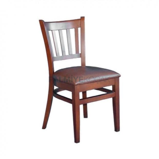 Ahşap Eskitme Restoran Sandalyesi