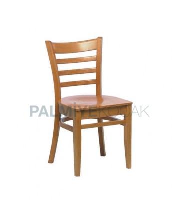 Ahşap Natürel Restoran Sandalyesi