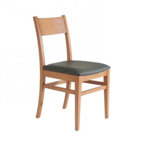 Armut Boyalı Siyah Deri Döşemeli Rustik Sandalye - rsa83