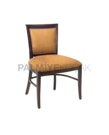 Beige Cotton Fabric Antique Chair