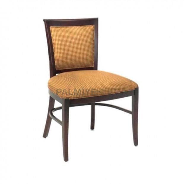 Bej Koton Kumaşlı Eskitme Sandalye