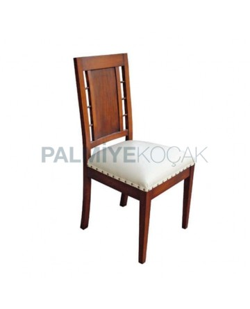 White Leather Upholstered Home Restaurant Hotel Chair