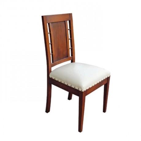 Beyaz Deri Döşemeli Eskitme Ev Restoran Otel Sandalyesi - rsa37