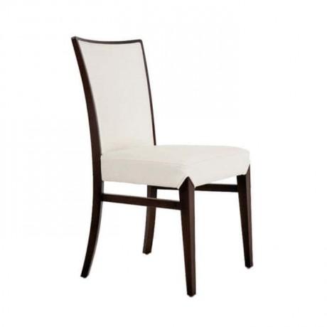 Beyaz Deri Döşemeli Giydirme Restoran Sandalyesi - rsa80