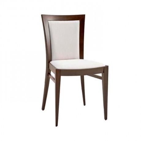 Beyaz Flok Kumaş Döşemeli Eskitme Rustik Sandalye - rsa60