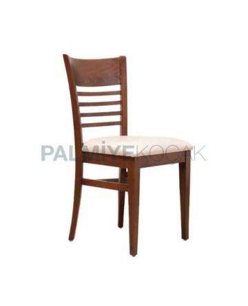 Ceviz Boyalı Ahşap Sandalye