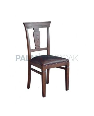 Cilalı Gürgen Ahşaplı Rustik Restorant Sandalyesi