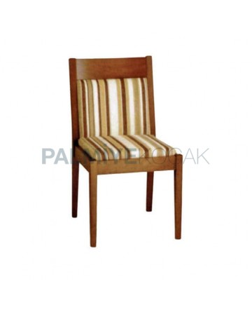 Striped Patterned Fabric Upholstered Chair