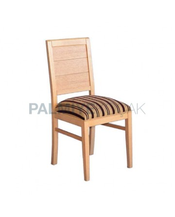 Patterned Fabric Wood Chair