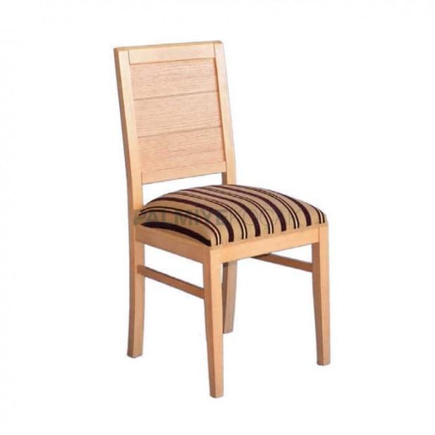 Desenli Kumaşlı Ağaç Sandalye