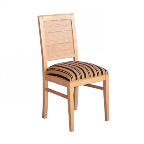 Desenli Kumaşlı Ağaç Sandalye - rsa26