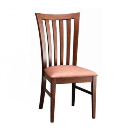Dik Çıtalı Ahşap Rustik Sandalye - rsa18