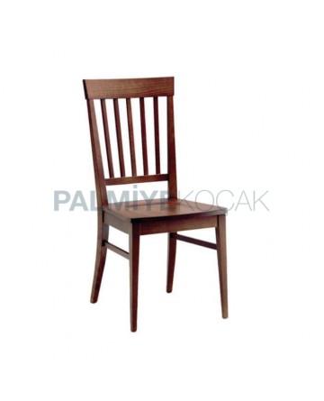 Dik Çıtalı Eskitme Boyalı Restaurant Sandalyesi
