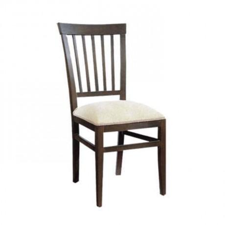 Dik Çıtalı Koyu Ahşap Renkli Rustik Sandalye - rsa40