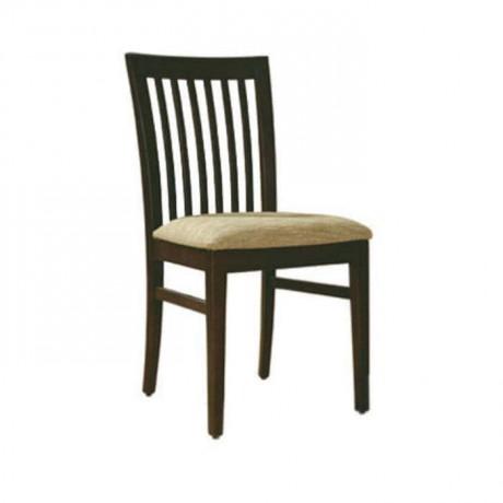 Dik Çıtalı Koyu Eskitme Rustik Sandalye - rsa35