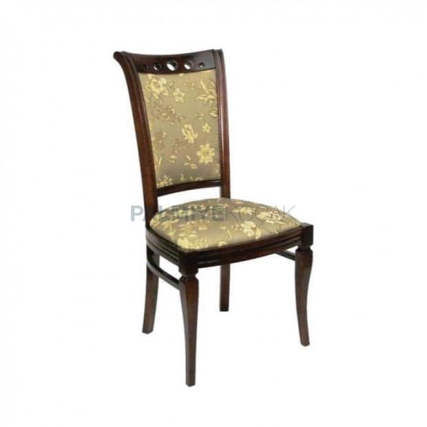 Eskitme Desenli Kumaşlı Salon Sandalyesi