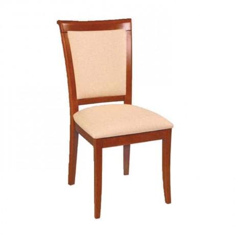 İpek Mat Boyalı Krem Sonil Kumaşlı Rustik Sandalyesi - rsa48