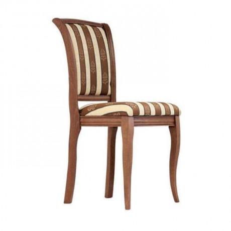 Kalın Çizgili Kumaşlı Açık Eskitme Boyalı Sandalye - rsa76