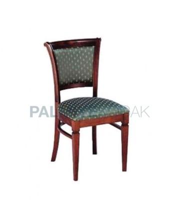 Classic Fabric Dark Antiqued Rustic Chair
