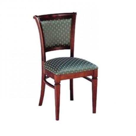 Klasik Kumaşlı Koyu Eskitme Rustik Sandalye - rsa19