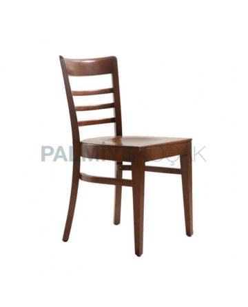 Kontrali Ahşap Eskitme Boyalı Restoran Otel Sandalyesi