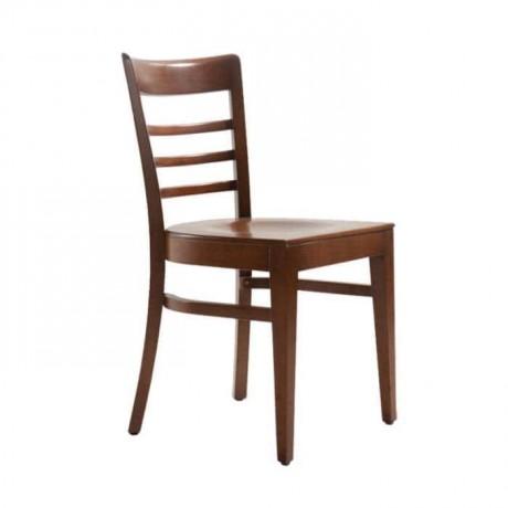 Kontrali Ahşap Eskitme Boyalı Restoran Otel Sandalyesi - rsa82
