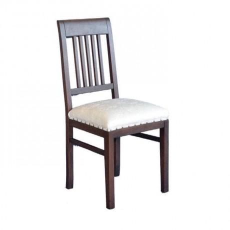 Koyu Eskitme Krem Deri Kabaralı Döşemeli Rustik Sandalye - rsa54