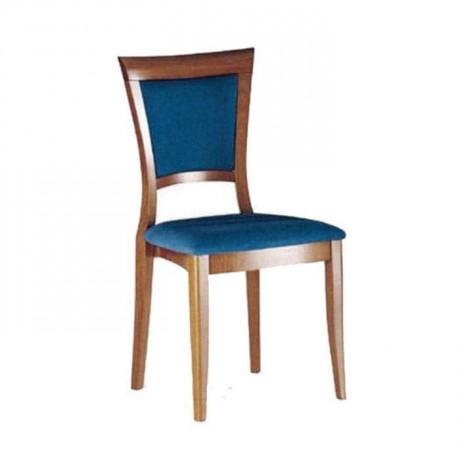 Mavi Kadife Kumaş Döşemeli Rustik Sandalye - rsa42