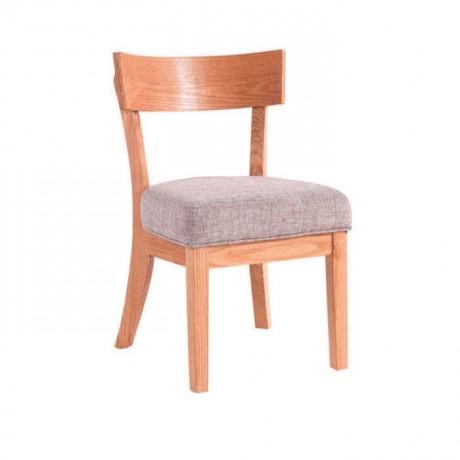 Natural Boyalı Gri Kumaş Döşemeli Restoran Sandalyesi - rsa90