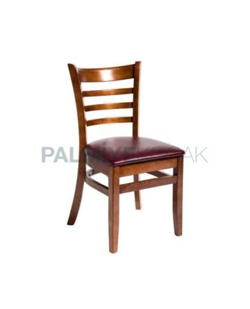 Parlak Boyalı Ahşap Restoran Sandalyesi