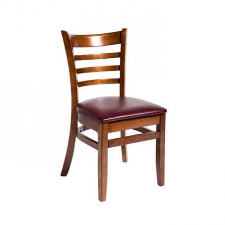 Parlak Boyalı Ahşap Restoran Sandalyesi - rsa57