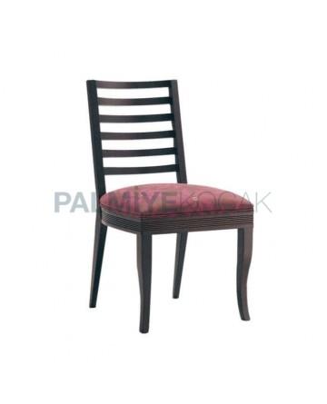 Rustic Chair with Black Plum Cushion