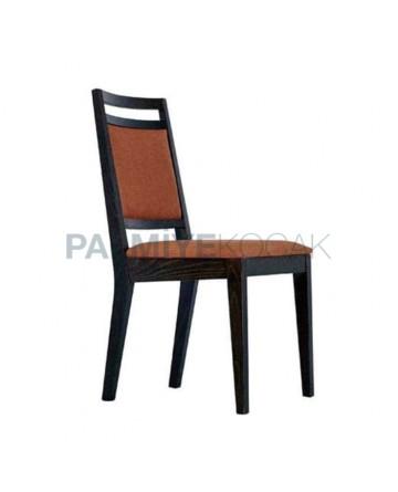 Siyah Mat Boyalı Rustik Sandalye