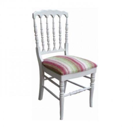 Tornalı Beyaz Lake Boyalı Ahşap Sandalye - rsa69
